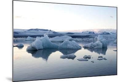 Icebergs, Glacier Lagoon Jškulsarlon, South Iceland-Julia Wellner-Mounted Photographic Print