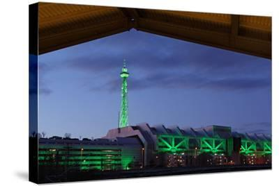 Berlin, Radio Tower, Icc, Evening-Catharina Lux-Stretched Canvas Print