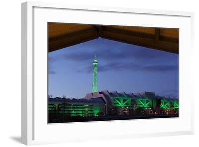Berlin, Radio Tower, Icc, Evening-Catharina Lux-Framed Photographic Print