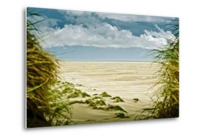 Germany, Schleswig-Holstein, Amrum, Sandy Beach, Sandbank, Kniepsand-Ingo Boelter-Metal Print