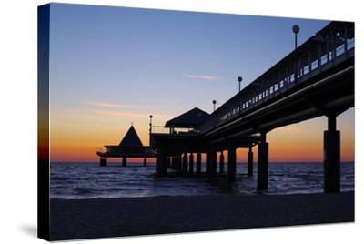 Germany, the Baltic Sea, Island Usedom, Heringsdorf, Beach, Pier, Morning Mood-Chris Seba-Stretched Canvas Print