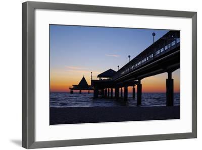 Germany, the Baltic Sea, Island Usedom, Heringsdorf, Beach, Pier, Morning Mood-Chris Seba-Framed Photographic Print