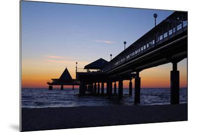 Germany, the Baltic Sea, Island Usedom, Heringsdorf, Beach, Pier, Morning Mood-Chris Seba-Mounted Photographic Print
