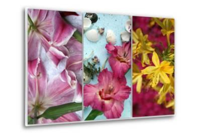 Tryptich from Gladiolus and Different Lilies-Alaya Gadeh-Metal Print
