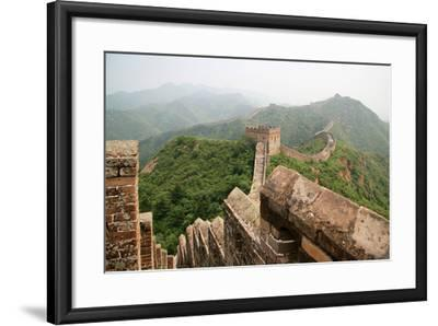 China, Great Wall, Hill Landscape and Watchtowers-Catharina Lux-Framed Photographic Print
