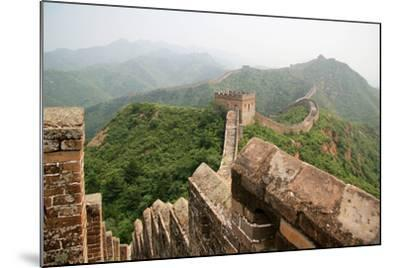 China, Great Wall, Hill Landscape and Watchtowers-Catharina Lux-Mounted Photographic Print
