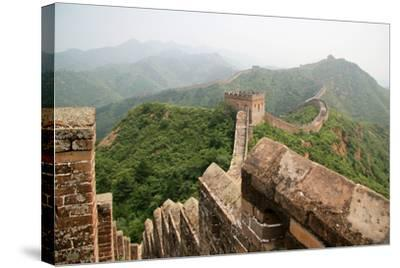 China, Great Wall, Hill Landscape and Watchtowers-Catharina Lux-Stretched Canvas Print