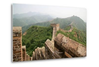 China, Great Wall, Hill Landscape and Watchtowers-Catharina Lux-Metal Print