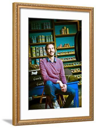 Germany, Hamburg, St Georg, Lange Reihe, Retail Shop, Pet Shop, Pet-Shop-Boyz, Owner-Ingo Boelter-Framed Photographic Print