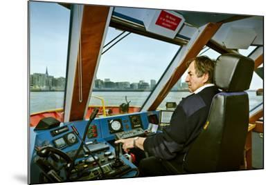 Germany, Hamburg, Elbe, Harbour, Captain, Ferry, Harbour Ferry-Ingo Boelter-Mounted Photographic Print
