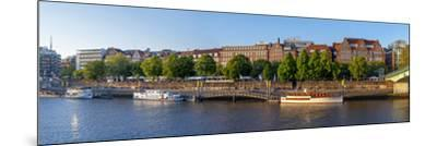 Banks of Weser, Martinianleger (Downtown Pier), Bremen, Germany, Europe-Chris Seba-Mounted Photographic Print