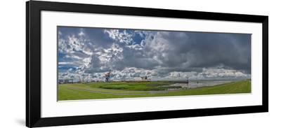 Germany, Schleswig-Holstein, BrunsbŸttel (Town), Dyke, Industry, Lock-Ingo Boelter-Framed Photographic Print