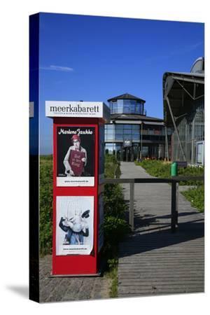 Sylt Quelle' (Restaurant) with 'Meerkabarett' (Theater-Uwe Steffens-Stretched Canvas Print