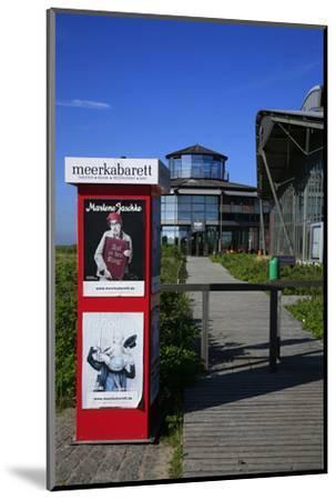 Sylt Quelle' (Restaurant) with 'Meerkabarett' (Theater-Uwe Steffens-Mounted Photographic Print