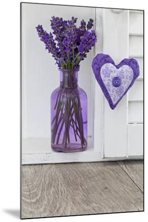 Lavender, Blossoms, Vase, Heart-Andrea Haase-Mounted Photographic Print