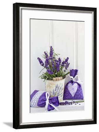 Lavender, Blossoms, Fragrance Sachets, Flowerpot-Andrea Haase-Framed Photographic Print