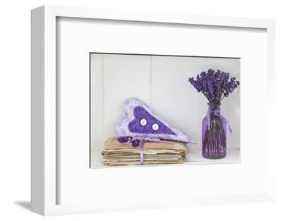 Lavender, Blossoms, Vase, Letters, Heart-Andrea Haase-Framed Photographic Print