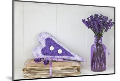 Lavender, Blossoms, Vase, Letters, Heart-Andrea Haase-Mounted Photographic Print