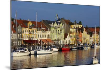 Denmark, Jutland, Sonderborg, Harbour Front, House Facades, Boats-Chris Seba-Mounted Photographic Print
