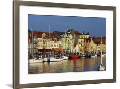 Denmark, Jutland, Sonderborg, Harbour Front, House Facades, Boats-Chris Seba-Framed Photographic Print