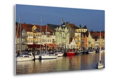 Denmark, Jutland, Sonderborg, Harbour Front, House Facades, Boats-Chris Seba-Metal Print
