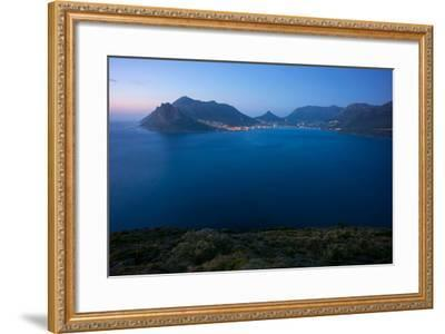 South Africa, Cape Peninsula, Hout Bay, Dusk-Catharina Lux-Framed Photographic Print