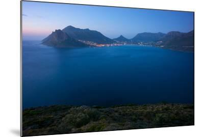 South Africa, Cape Peninsula, Hout Bay, Dusk-Catharina Lux-Mounted Photographic Print