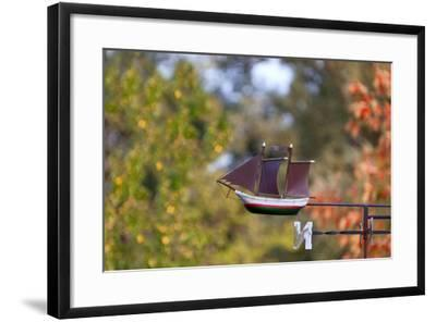 Baltic Sea Spa Wustrow, Weather Vane, Detail, Sailboat-Catharina Lux-Framed Photographic Print