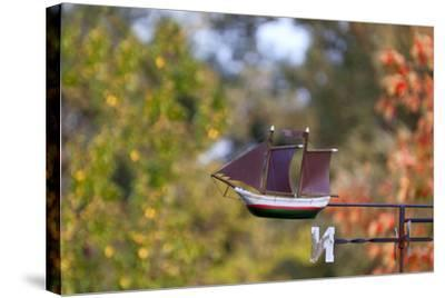 Baltic Sea Spa Wustrow, Weather Vane, Detail, Sailboat-Catharina Lux-Stretched Canvas Print