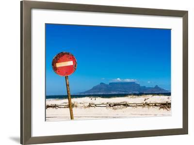South Africa, Cape Town, Table Mountain, Rusted Sign-Catharina Lux-Framed Photographic Print
