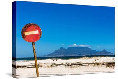 South Africa, Cape Town, Table Mountain, Rusted Sign-Catharina Lux-Stretched Canvas Print