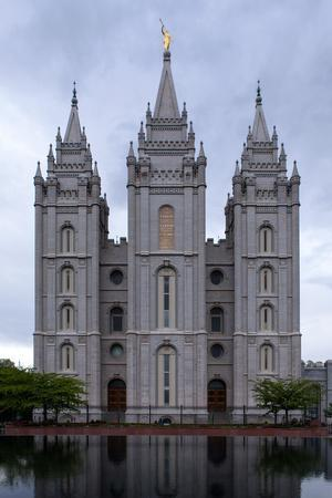USA, Utah, Salt Lake City, Temple Square, Mormon Temple-Catharina Lux-Framed Photographic Print