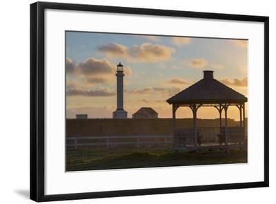 Point Arena Lighthouse and Museum, Arena Rock Marine Natural Preserve, California, Usa-Rainer Mirau-Framed Photographic Print