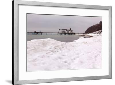 The Baltic Sea, RŸgen, Sellin Pier, Snow-Catharina Lux-Framed Photographic Print