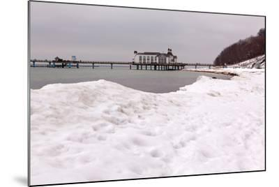 The Baltic Sea, RŸgen, Sellin Pier, Snow-Catharina Lux-Mounted Photographic Print
