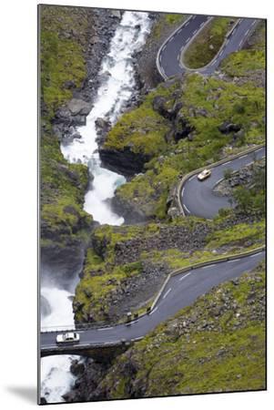 Scandinavia, Norway, Troll-Steep Track, Mountain-Passport, Serpentine, River Bed-Rainer Mirau-Mounted Photographic Print