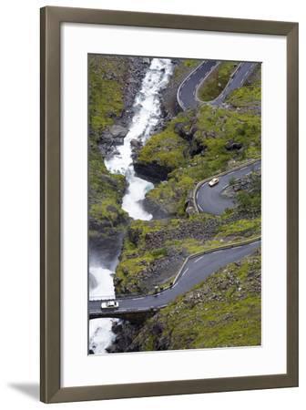 Scandinavia, Norway, Troll-Steep Track, Mountain-Passport, Serpentine, River Bed-Rainer Mirau-Framed Photographic Print