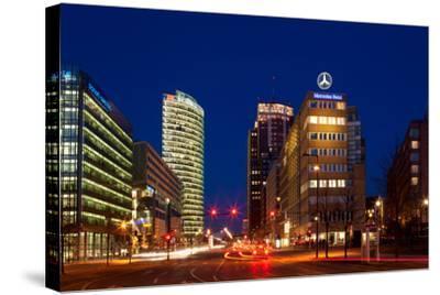 Berlin, Potsdamer Platz, Night Photography-Catharina Lux-Stretched Canvas Print