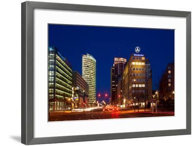 Berlin, Potsdamer Platz, Night Photography-Catharina Lux-Framed Photographic Print