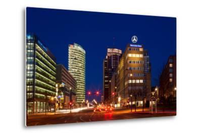 Berlin, Potsdamer Platz, Night Photography-Catharina Lux-Metal Print