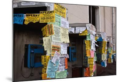 Moscow, Slips of Paper and Messages at Telephone Boxes-Catharina Lux-Mounted Photographic Print