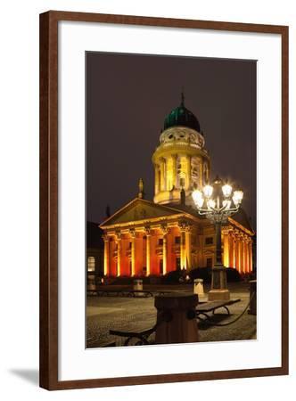 Berlin, Gendarmenmarkt, Night Photography-Catharina Lux-Framed Photographic Print