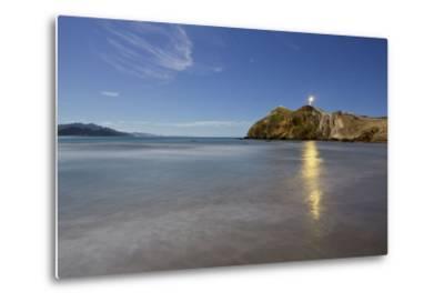 Castle Point Lighthouse in the Moonlight, Wellington, North Island, New Zealand-Rainer Mirau-Metal Print