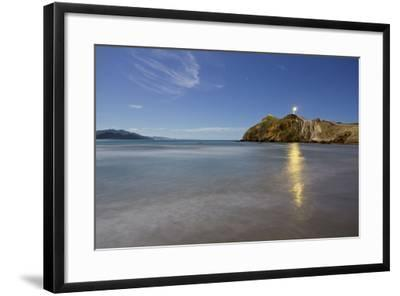 Castle Point Lighthouse in the Moonlight, Wellington, North Island, New Zealand-Rainer Mirau-Framed Photographic Print