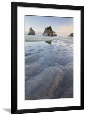 Archway Islands, Wharariki Beach, Tasman, South Island, New Zealand-Rainer Mirau-Framed Photographic Print