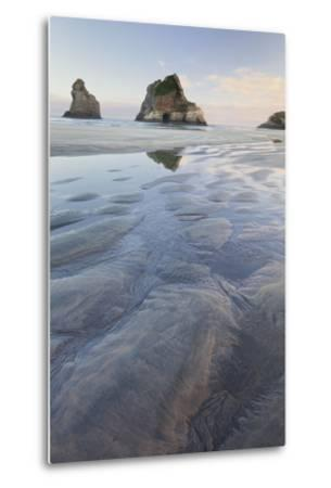 Archway Islands, Wharariki Beach, Tasman, South Island, New Zealand-Rainer Mirau-Metal Print