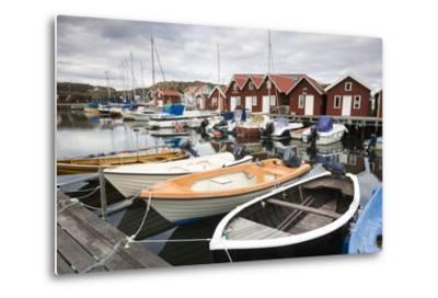 Sweden, BohuslŠn, Fishing Settlement RšnnŠng, Harbour, Boats, Houses-Frank Lukasseck-Metal Print