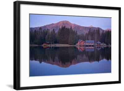 Austria, Styria, Rottenmanner Tauern, Lake, Shore, Framehouses, Mountain Scenery, Panorama-Rainer Mirau-Framed Photographic Print