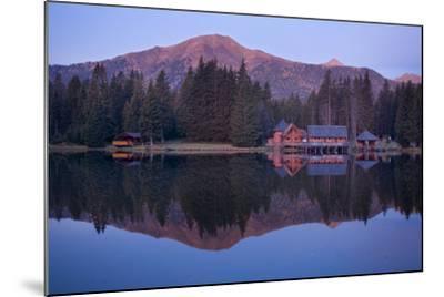 Austria, Styria, Rottenmanner Tauern, Lake, Shore, Framehouses, Mountain Scenery, Panorama-Rainer Mirau-Mounted Photographic Print