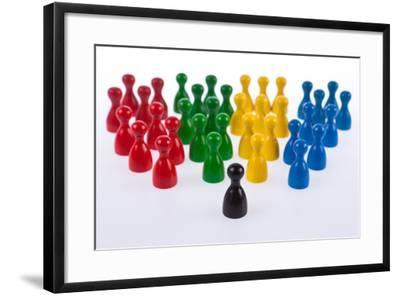 Gaming Pieces in Colour Formations and Single Token, Symbolism-Catharina Lux-Framed Photographic Print